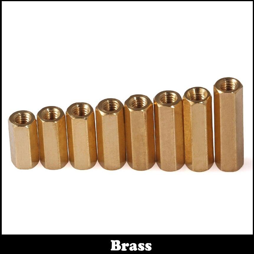 M3 M3x16 M3*16 M3x20 M3*20 Dual Nut Brass Female To Female PCB Isolation Column Hex Hexagon Pillar Spacer Standoff Stand off