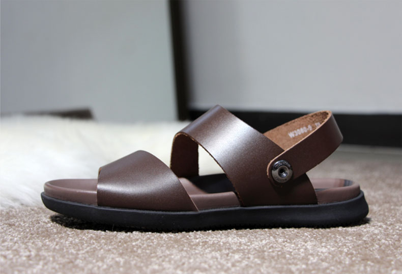 Wood Tree Brand Genuine Leather Summer Soft Male Sandals Shoes For - Men's Shoes - Photo 5