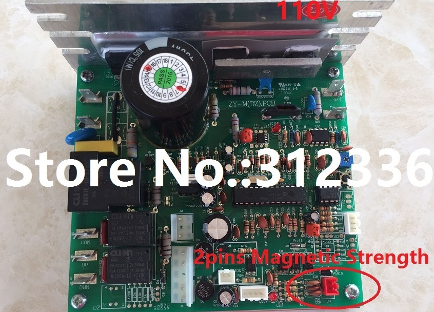 Free Shipping ZY-M(DZ) PCB 110V Motor Controller magnetic strength SHUA BROTHER OMA YIJIAN treadmill board driver control board free shipping 110v mc2100els 18w motor controller control panel driver treadmill circuit board motherboard suit family treadmill