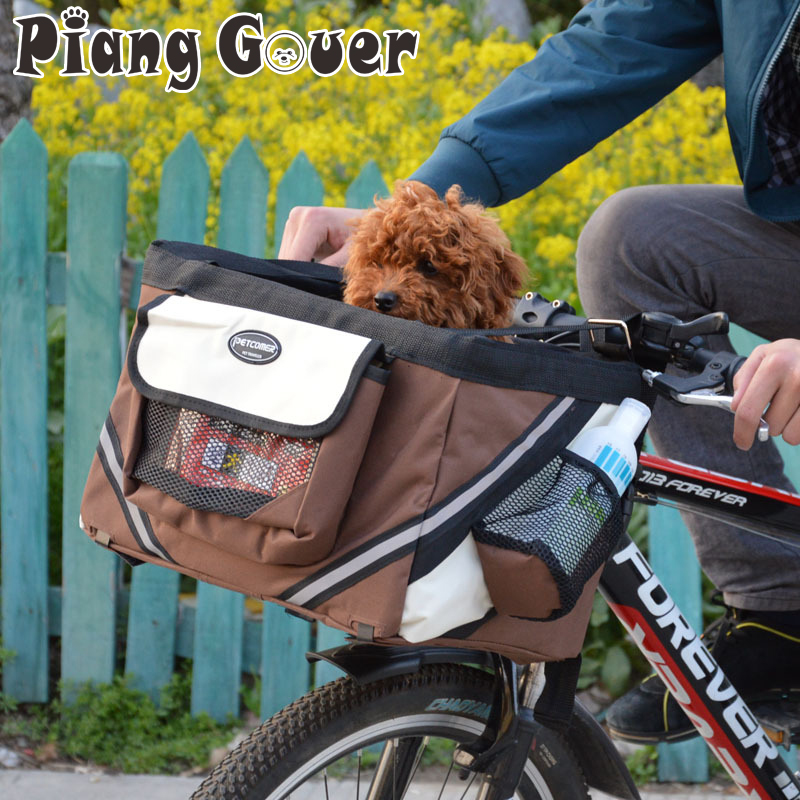 Pet Bicycle Carrier Bag Puppy Dog Travel Bike Carrier Seat For Small Dog Basket Products Travel