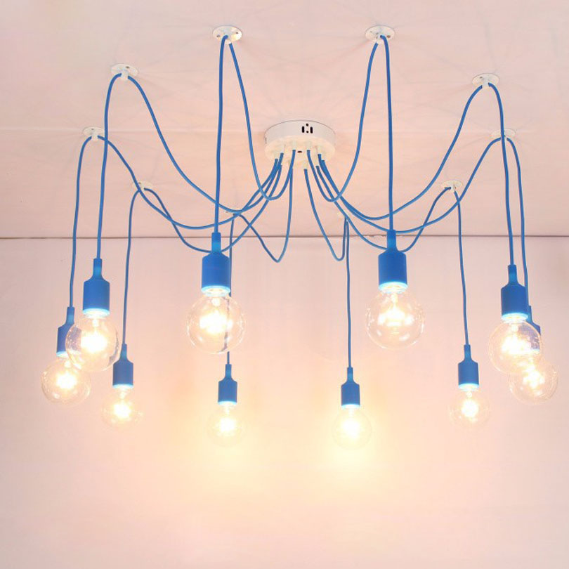 Modern Pendant Lights 13 Colors DIY Lighting Multi color Silicone ...