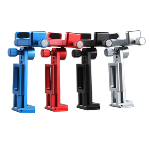 Image 2 - Adjustable Tripod Mount Adapter Vertical 360 Rotation Phone Clipper Stand for iPhone X 8 7 Huawei Samsung