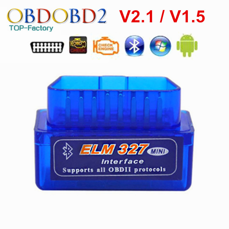 2018 Super Mini ELM327 Bluetooth V2.1 / V1.5 OBD2 Car Diagnostic Tool ELM 327 Bluetooth For Android/Symbian For OBDII Protocol
