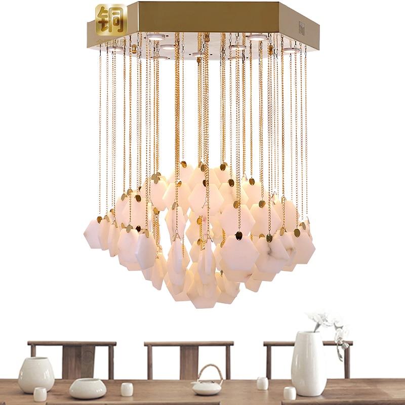 Modern Lustre Marble Led Pendant Lights Copper Metal Living Room Led Pendant Light Dining Room Led Pendant Lamp Suspension Lamp