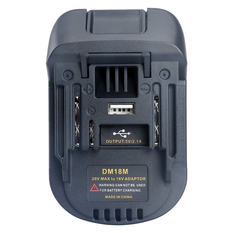 Li-Ion Charger Tool <font><b>Adapter</b></font> 20V To <font><b>18V</b></font> Battery Conversion Dm18M For Milwaukee <font><b>Makita</b></font> Bl1830 Bl1850 Batteries image