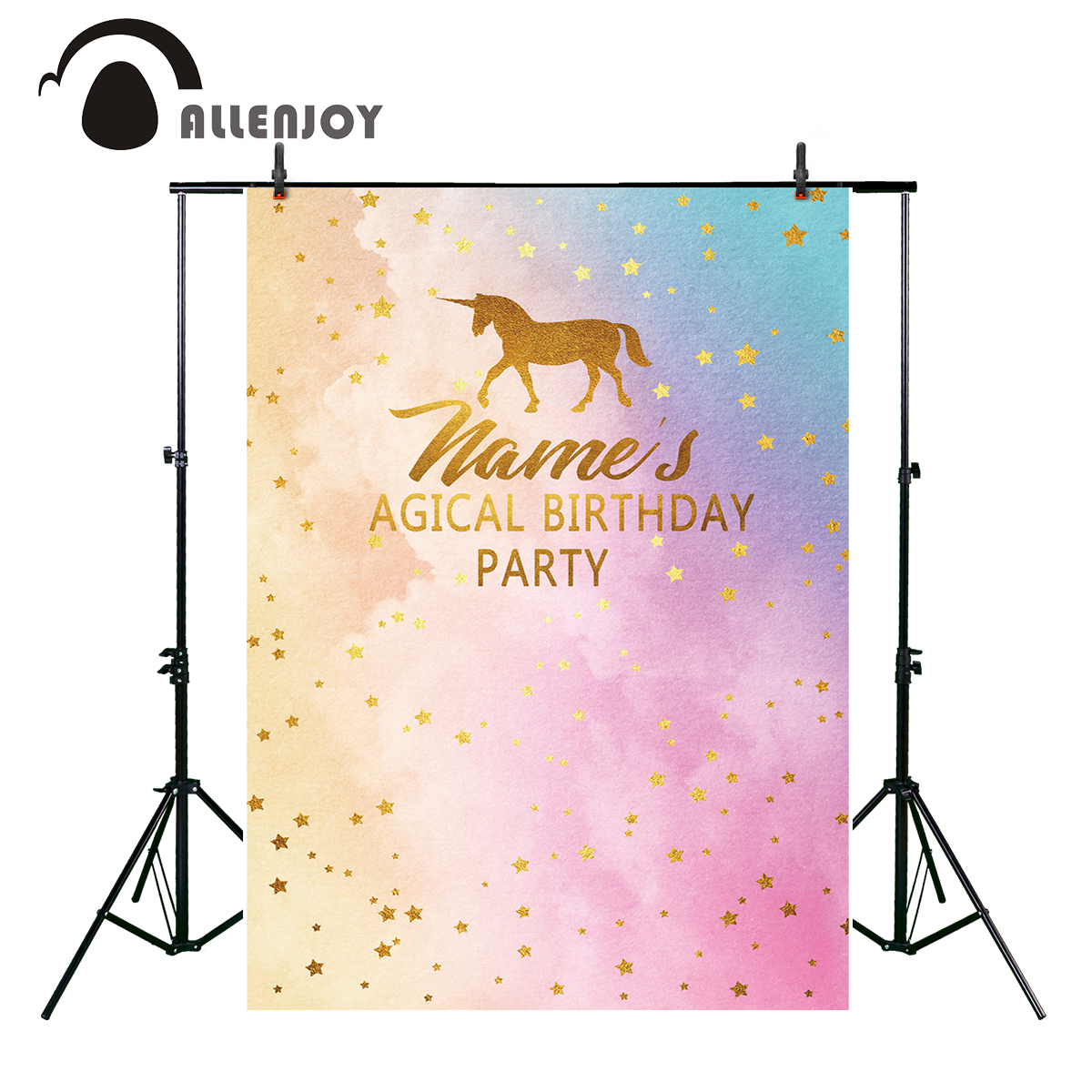 Camera & Photo Allenjoy Watercolor Unicorn Theme Birthday Backdrop Star Party Dessert Table Banner Colorful Rainbow Background Baby Photo Booth Background