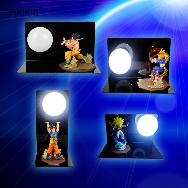 New Dragon Ball Son Goku Strength Bombs Luminaria Led Night Table Lamp Holiday Gift Room Decorative Led Lighting In EU US Plug 2018 3m 220v 20pcs car models night lamp kid children room decor paper string lighting holiday lights eu uk plug luminaria