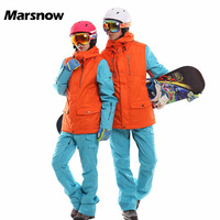 2017 Women Ski Suit Winter Men S Snowboard Jackets Pants Waterproof Breathable Thick Warm High Quality