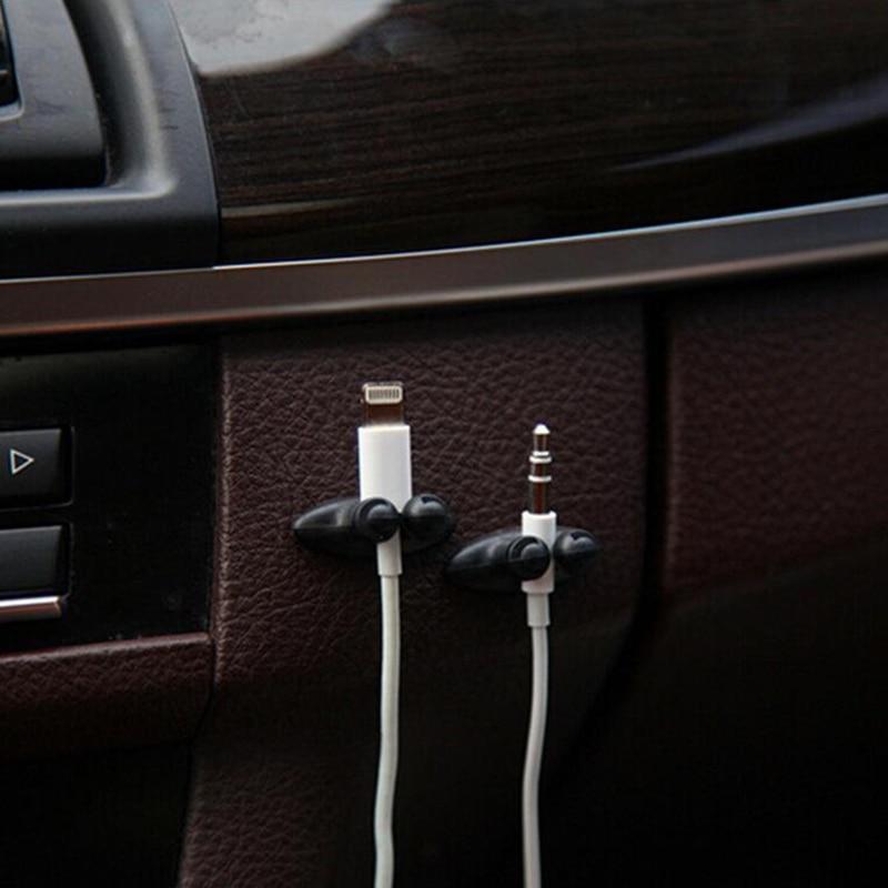 8 հատ / Lot Car Wire Wire Cable Holder Tie Clip Fixer Organizer - Ավտոմեքենայի ներքին պարագաներ - Լուսանկար 2