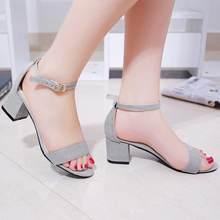 8baf09522ca Summer Women Sandals Open Toe Flip Flops Women s Sandles Thick Heel Women  Shoes Korean Style Gladiator