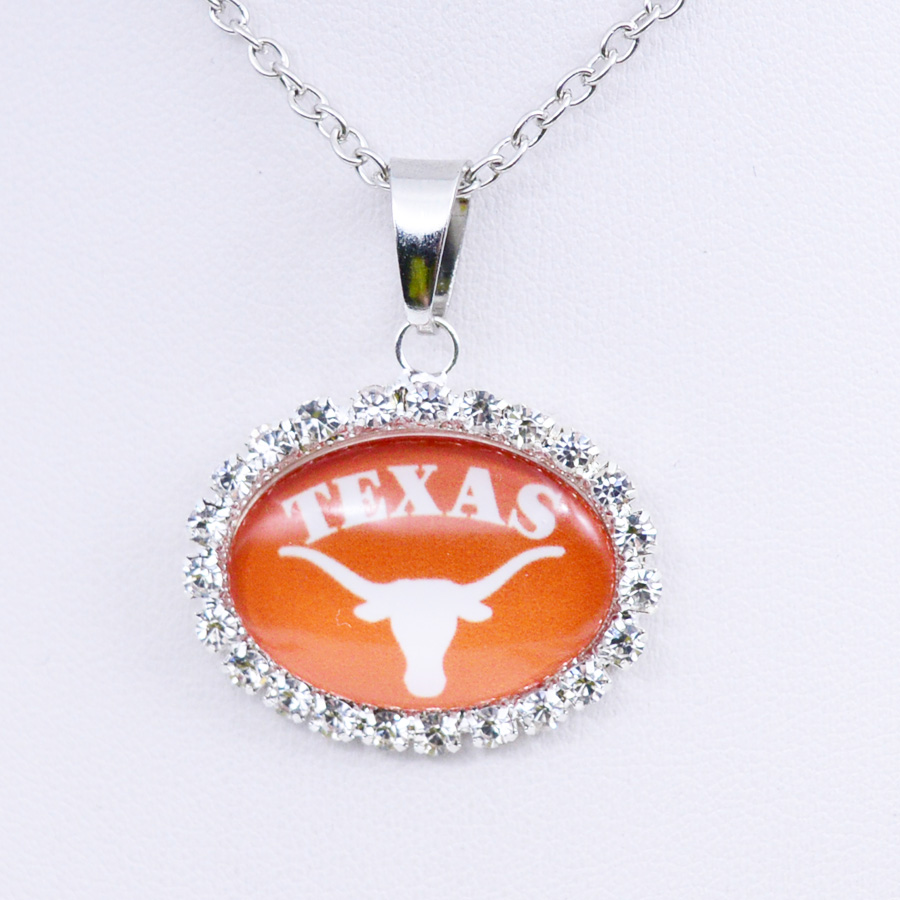Necklace NCAA Texas <font><b>Longhorns</b></font> <font><b>Charm</b></font> Pendant University Basketball Jewelry for Women Gifts Party Birthday Wholesale 2018 image