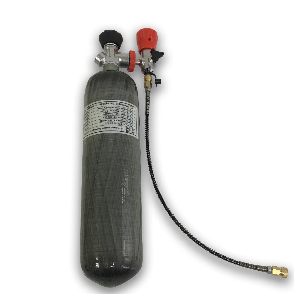 Acecare cilindro pcp aire co2 tanque de fibra de carbono de pcp de buceo 300bar de la Fuerza Aérea de condor tanque de paintball de recarga de la estación