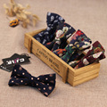 Wholesale Casual Fashion Bowtie Floral Korean Version Cotton Men Bow Ties 2017 Europe America Brand Flowers Women Men's Bow Ties