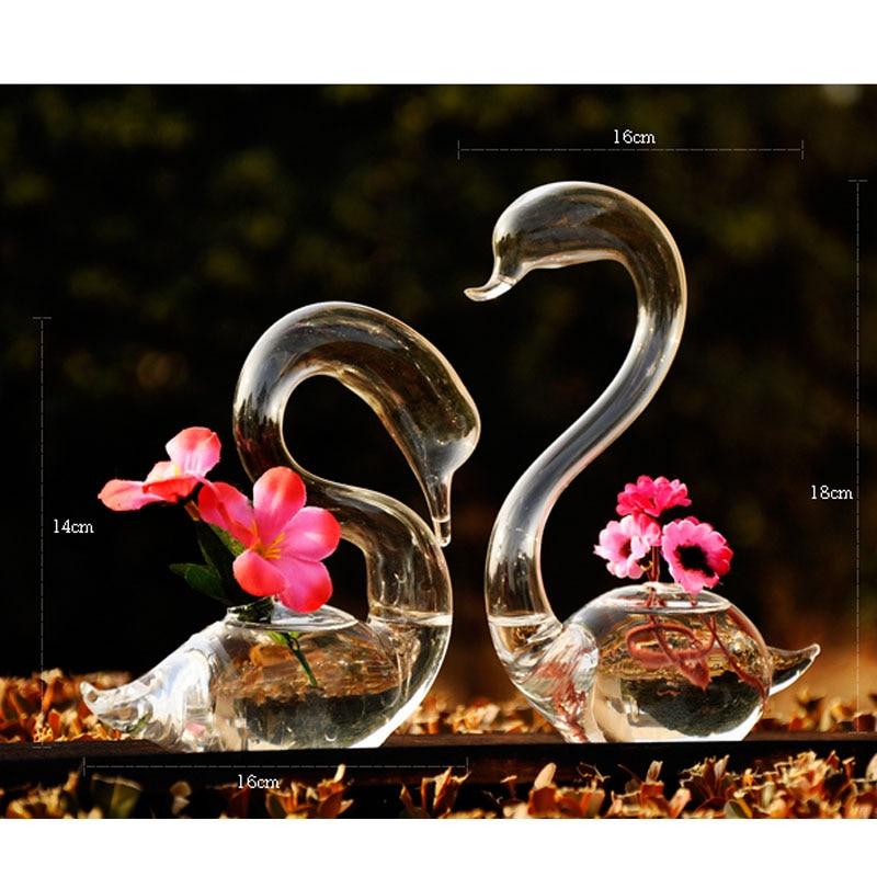 Wedding Gift Vase: O.RoseLif Swan Flower Vase For Wedding Decoration,Home