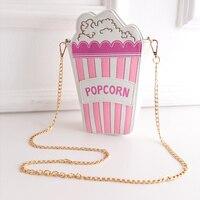 new arrival hot sale women fashion handbag popcorn chains crossbody messenger bag striped shoulder bag pu leather 5 colors