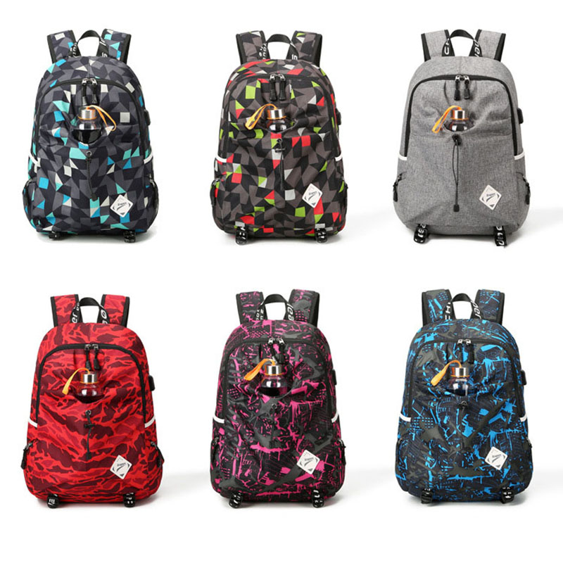 para adolescentes mochila carga usb Capacidade : 20-35l