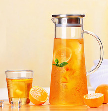 High Quality Glass Kettle Two-way Outlet Water Jug Heat Resistant Transparent Teapot Stainless Steel Strainer Juice FlowerTeapot