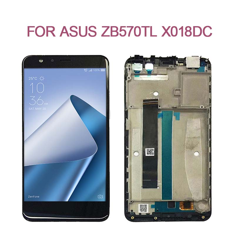 SZHAIYU For Asus Zenfone Max Plus X018DC ZB570TL LCD Display Touch Screen Digitizer Assembly With FrameSZHAIYU For Asus Zenfone Max Plus X018DC ZB570TL LCD Display Touch Screen Digitizer Assembly With Frame