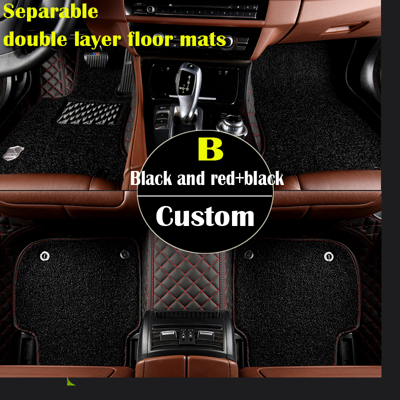 Separable double layer custom car floor mats for Mercedes Benz S class W220 280 320 350 430 500 600 L S55 S65 AMG car-styling