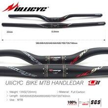 Ullicyc Newest UC90 (Red) Mountain Bike Full Carbon Handlebar (Flat/Rise) 31.8*580/600/620/640/660/680/700/720/740mm free ship