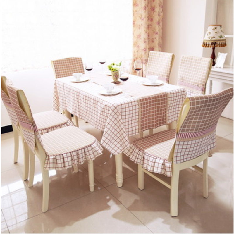 Classic England Style Tablecloth Coffee Cotton Fabric Plaid Table Cover Storage Chair Set Qualtiy Home