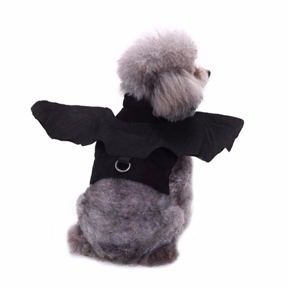 Gomaomi Halloween Pet Dog Costumes Harness Outfits Bat Wings Dog Cosplay Clothes For Small Dogs Cats