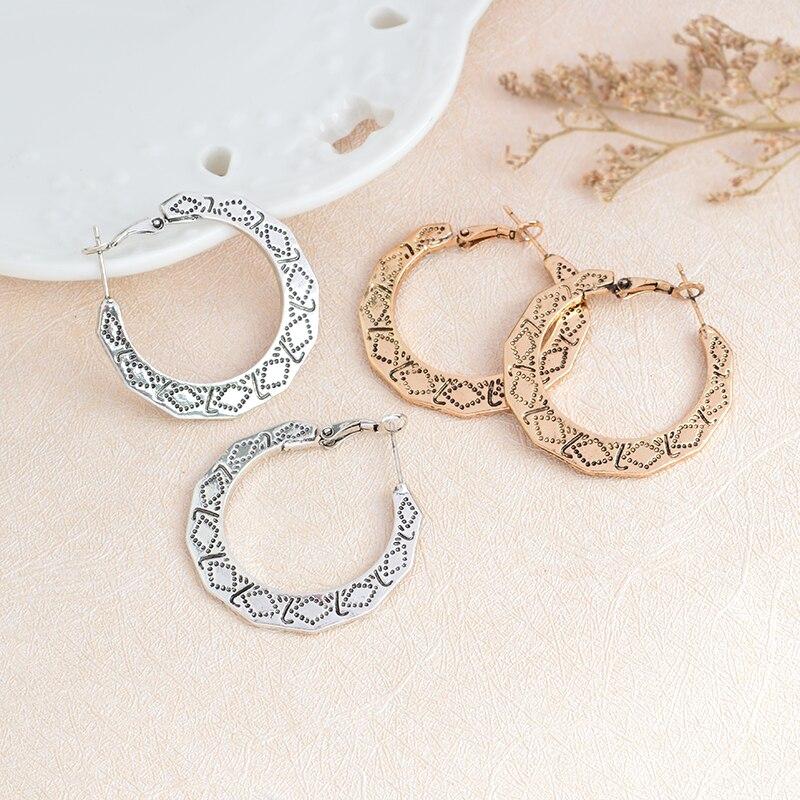 Trendy Large Hoop Earrings Gold Silver