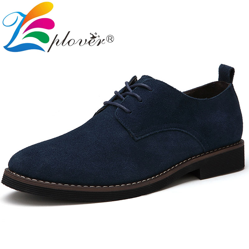 Brand Men Shoes Casual Suede Leather Dress Shoes Men Flats Oxford Shoes For Men Moccasins Fashion Luxury Plus Size Men Footwear