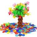 400 unids niños diy multicolor snowflake building blocks educativos monta los juguetes clásicos para niños de regalo de navidad