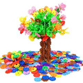 400PCS Kids DIY Multicolor Snowflake Building Blocks Educational Assembling Classic Toys for Children Xmas Gift