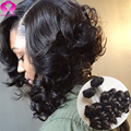 Alibaba Best Quality Brazilian Virgin Hair Loose Wave 3 Bundles Short Sexy Formula Hair Deep Curly Brazilian Hair Kinky Curly