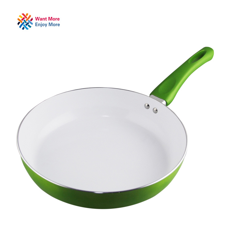 non stick copper frying pan with nanoscale ceramic coating and induction cookingoven u0026 dishwasher safe panela de ceramica potin pans from home u0026 garden on