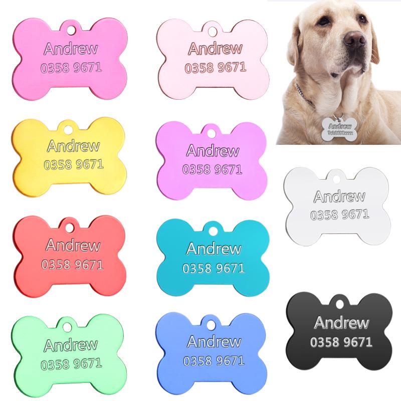 Placas de identificación para perros, con nombre y teléfono 3
