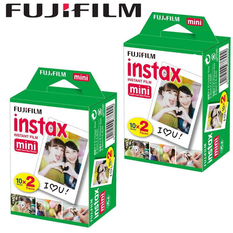 Prix pour Fujifilm fuji instax mini blanc films 40 pcs instantanée instax photo papier pour fujifilm instax mini 8 7 s 7 25 50 s 90 70 sp-1 caméra
