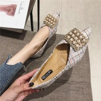 Kmeioo Spring New Brand Shoes Woman Crystal Flats Pointed Toe Pearl Loafers Slip On Mules Women Dress Casual S
