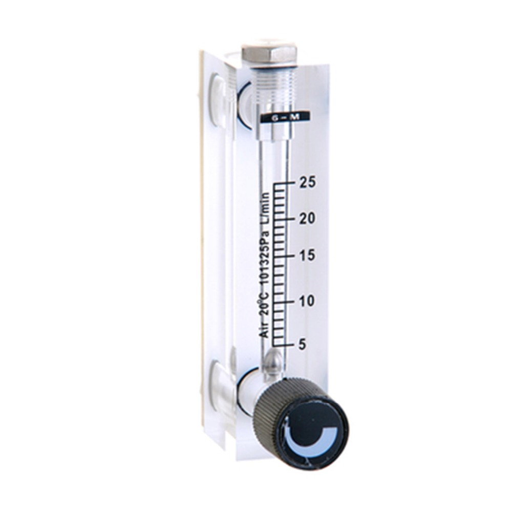 LZT-6T 5-25 L/min Square Panel Type Gas Flowmeter Air Flow Meter rotameter  LZT6T Tools Flow Measuring  цены