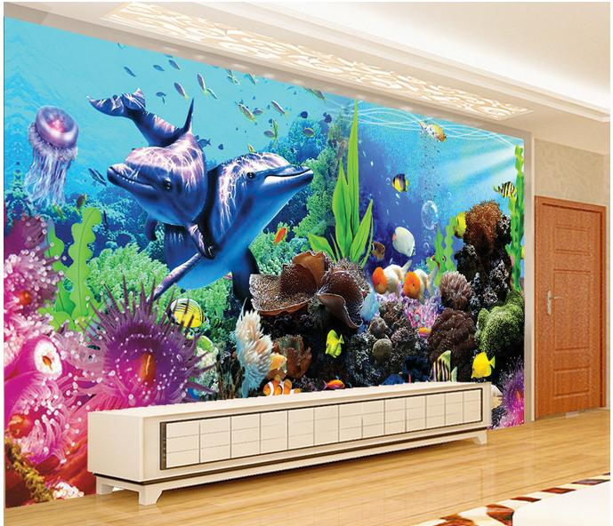 Online get cheap ocean wall murals for Cheap mural wallpaper