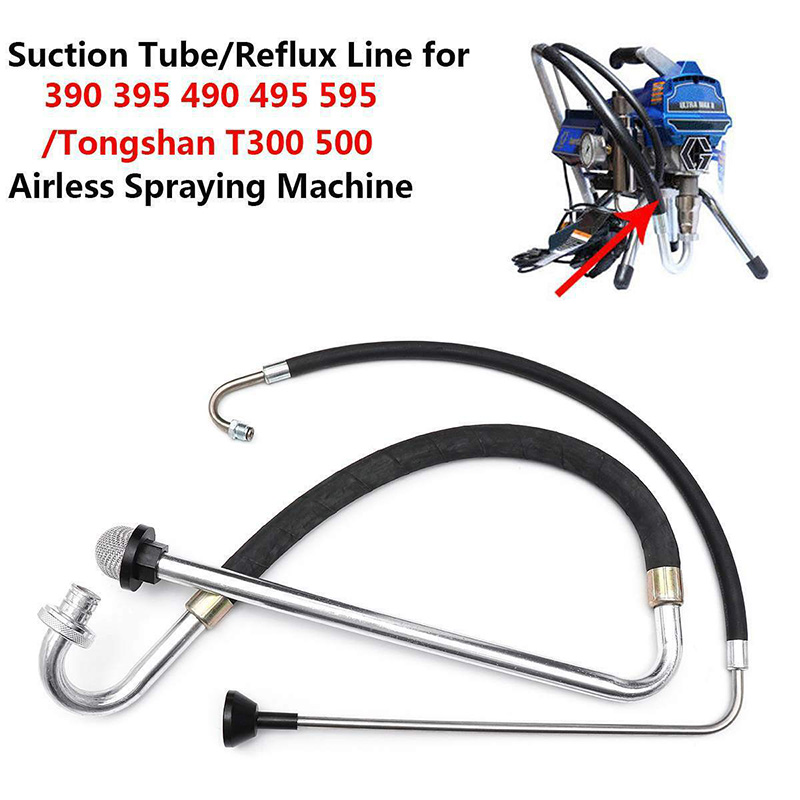 Suction Tube Reflux Line Airless Paint Sprayer Accessories For Graco 390 395 490 Tongshan T300 500 CLH@8