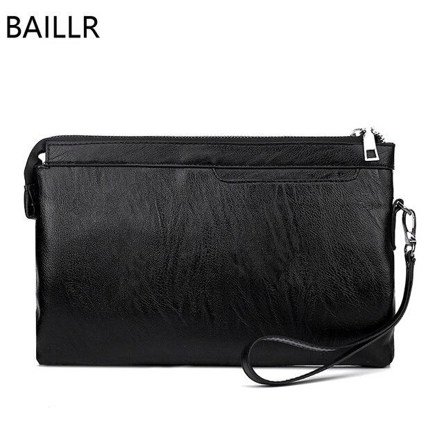 Hitam kulit amplop clutch bag pria dompet dan tas musim panas bisnis man tas  tangan tas 726ce87b20