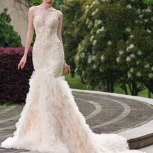 Ensotek 2019 Luxury Mermaid Wedding Dress Backless