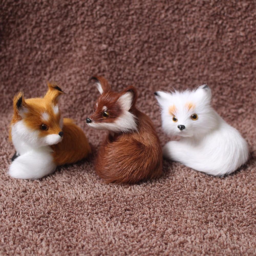 Mini Cute Simulation Fox  Animal Home Decoration Teaching Props Simulation Fox Children toy