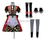 Livraison gratuite New Custom made Alice Madness Returns Alice Toyroyal pousser robe Cosplay Costume pour Halloweenr