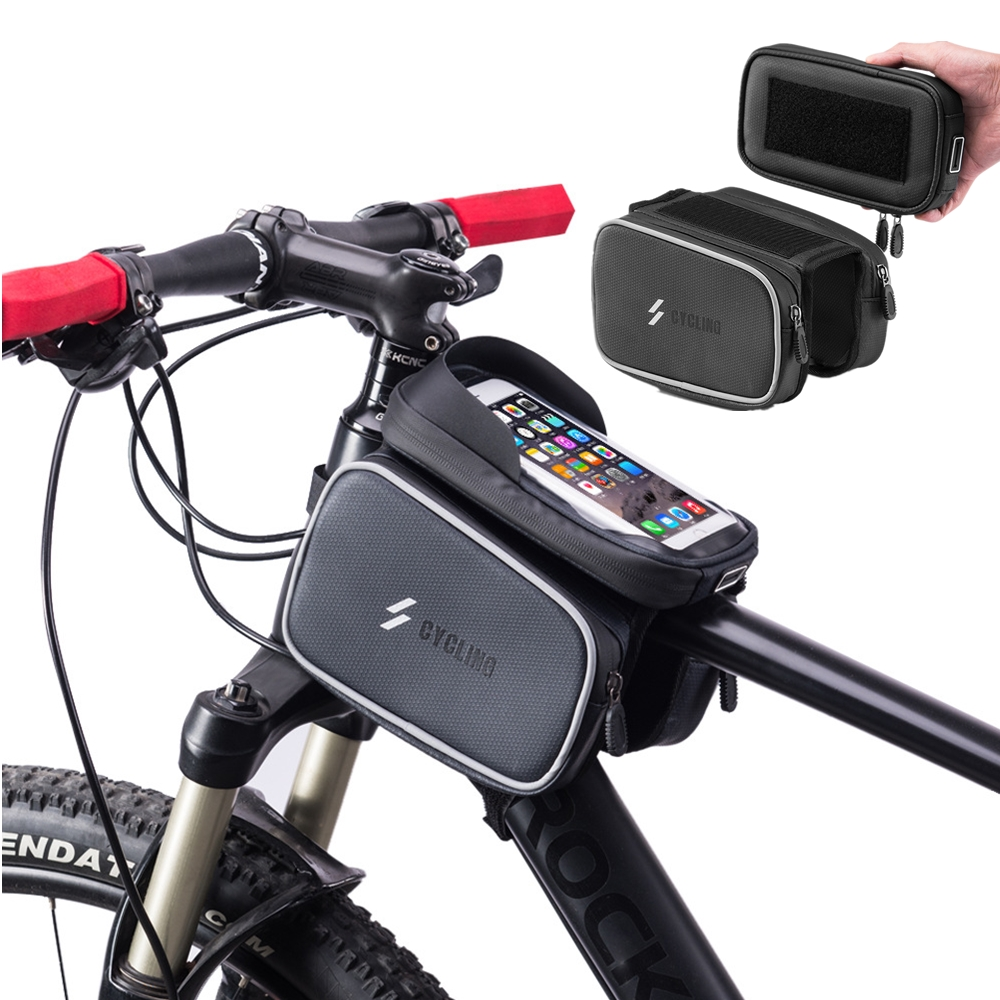 Bike Bag Bicycle Front Frame Bag Cycling Waterproof Sensitive Touch Screen Top T