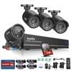 SANNCE 8CH CCTV System H 264 1080P HDMI Output 4IN1 DVR 4pcs 720P CCTV Security Cameras