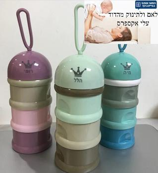 MIYOCAR personalized any name 3 layer Frog Style Portable Baby Food Storage Box Formula Milk Storage 1