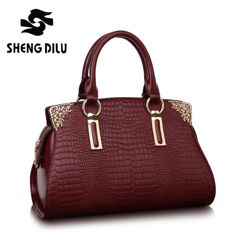 ShengDiLu роскошная женская сумка из натуральной кожи, дизайнерские сумки, женские сумки известного бренда, сумка на плечо высокого качества, ...