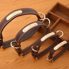 Free Shipping German Shepherd Collar Bling Personalized Leather Solid Christmas Collars Pitbull Harness for Small Dogs 60QY044
