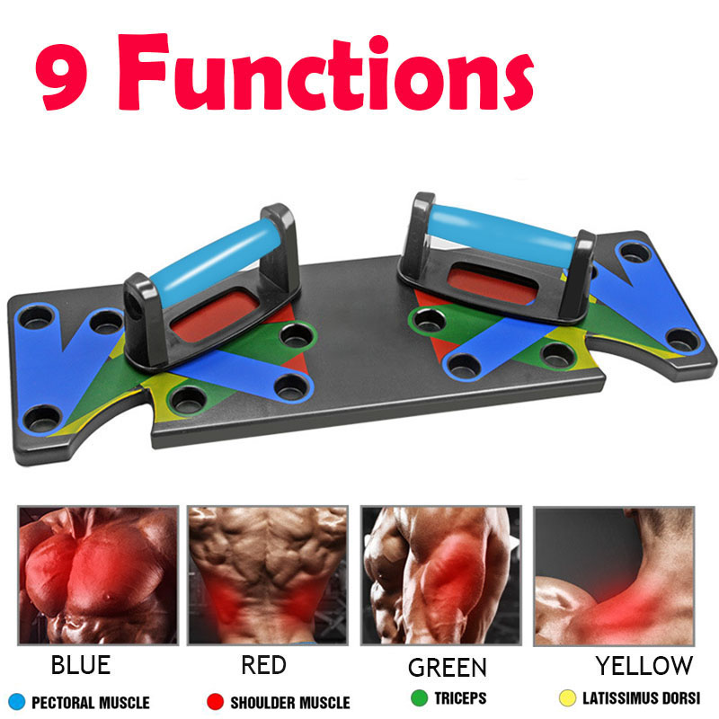 Push Ups Rack Board 9 Way Comprehensive Fitness Exercise Workout Body Building Training Gym Push-up Stands Board JH02