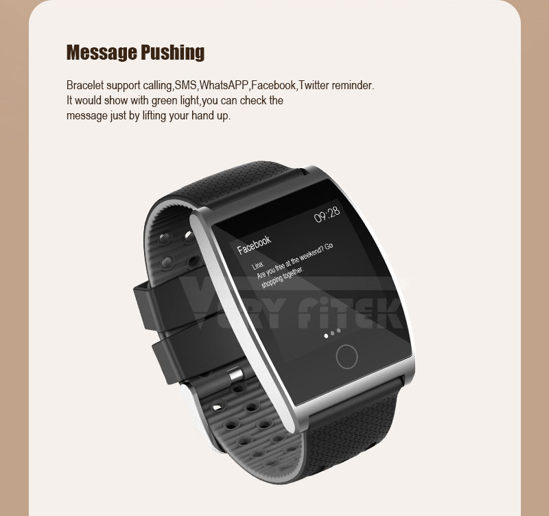 VERYFiTEK QS05 Smart Bracelet Watch Blood Pressure Oxygen Smart Band Heart Rate Monitor Wristband Pedometer Fitness Bracelets  (6)