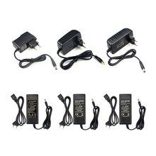 100-240 В адаптер питания переменного тока в постоянный США, ЕС, Великобритания, штепсельная вилка, адаптер питания 12 В, 1A, 2A, 3A, 5A, 6A, 8A, адаптер питания для светодиодных лент